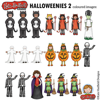 """Halloween Kids Clip Art 2: """"Halloweenies 2"""""""