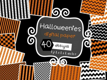 Halloweenies Digital Paper Bundle