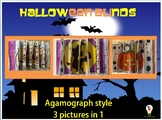 Halloween Blinds  3 pictures in one Agamograph style