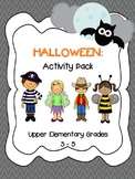 Halloween Activity Pack Grades 3-5 *Math, Reading & Writing Activities*