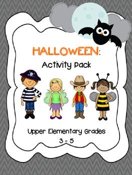 Halloween Activity Pack Grades 3-5 *Math, Reading & Writing Activities*