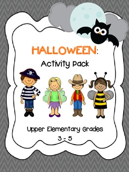 Halloween Activity Pack Grades 3-5 *Math, Reading & Writin