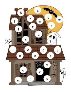 Hallowen Lowercase Alphabet Mat