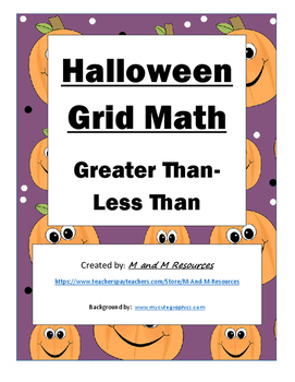 Halloween Math Mystery Picture- Greater Than/ Less Than
