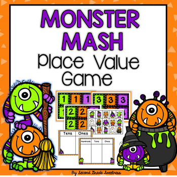 Halloween Place Value Game: Monster Mash