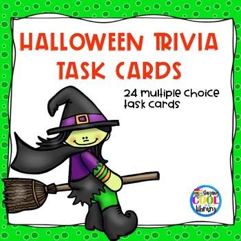 Halloween Trivia Task Cards