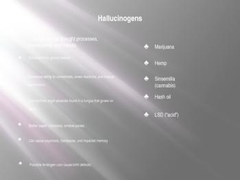 Forensics: Hallucinogens, Stimulants, and Narcotics Presentation