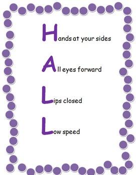 Hallway Behavior Anchor Chart