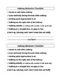Hallway Behavior Checklist