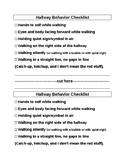 Hallway Behavior Checklist