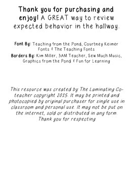 Hallway Expectation Poster