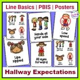Hallway Expectations | Hallway Rules | Line Basics & PBIS theme