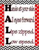 Hallway Expectations in Red and Black