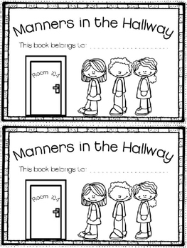 Hallway Manners Book & Sorting Activity