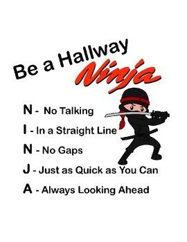 Hallway Ninja Poster