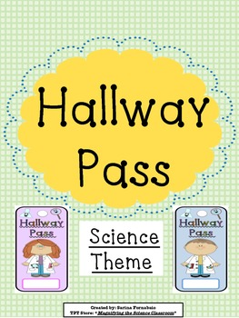 Hallway Pass Science Theme