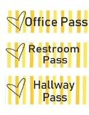 Hallway Passes