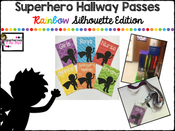 Hallway Passes-Superhero Rainbow Silhouette Edition
