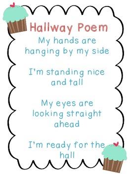 Hallway Poem Cupcakes