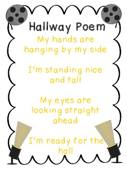 Hallway Poem Hollywood Theme