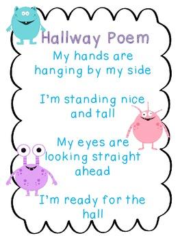 Hallway Poem Monster Theme