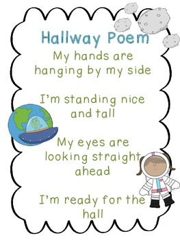 Hallway Poem Space Theme