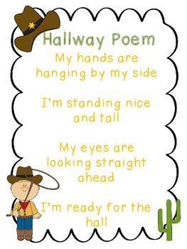 Hallway Poem Western Theme