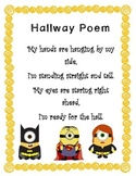 Hallway Poem with Superhero Minions