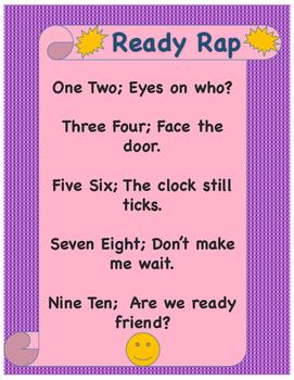 """Hallway Poster """"Ready Rap"""""""