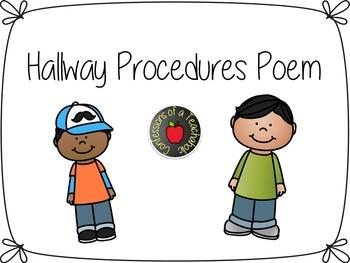 Hallway Procedures Poem Poster