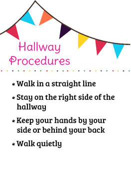 Hallway Procedures Poster