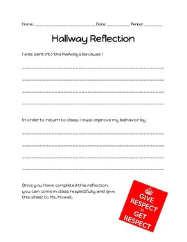 Hallway Reflection Sheet
