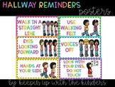 Hallway Reminders Posters- Neon Brights