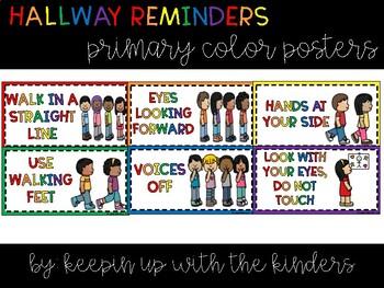 Hallway Reminders; Primary Colors