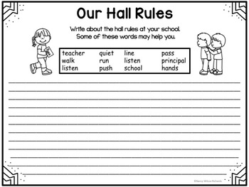 Rules for the HALLWAY, K-3