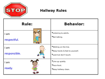 Hallway Rules Poster