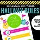 Hallway Rules Poster - Owl Themed