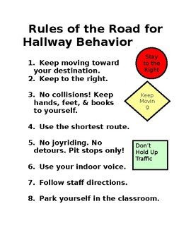 Hallway Traffic Sign
