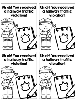 Hallway Violation Tickets