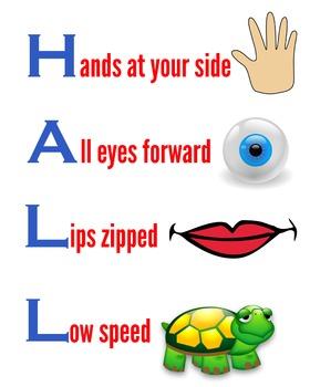 Hallway basics poster