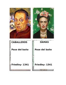 Hallway passes featuring Hispanic artists
