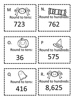 Halloween Rounding to Tens and Hundreds Game