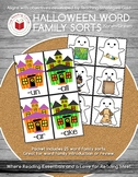 Haloween Word Family Game