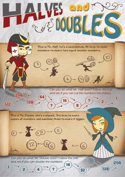 Halves and Doubles Poster
