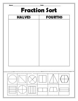 Halves and Fourths Sort