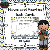 Halves and Fourths Task Cards: 1st Grade CC: Reason with s