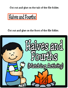 Halves and Fourths (Using 2D Figures): 1st Grade TEKS 1.6G and 1.6H