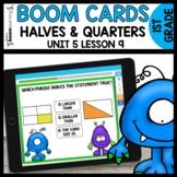 Halves and Quarters BOOM CARDS   DIGITAL TASK CARDS   Modu