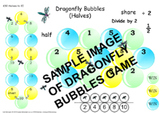 Halves game to 10 - Dragonfly Bubbles