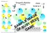 Halves game to 24 - Dragonfly Bubbles